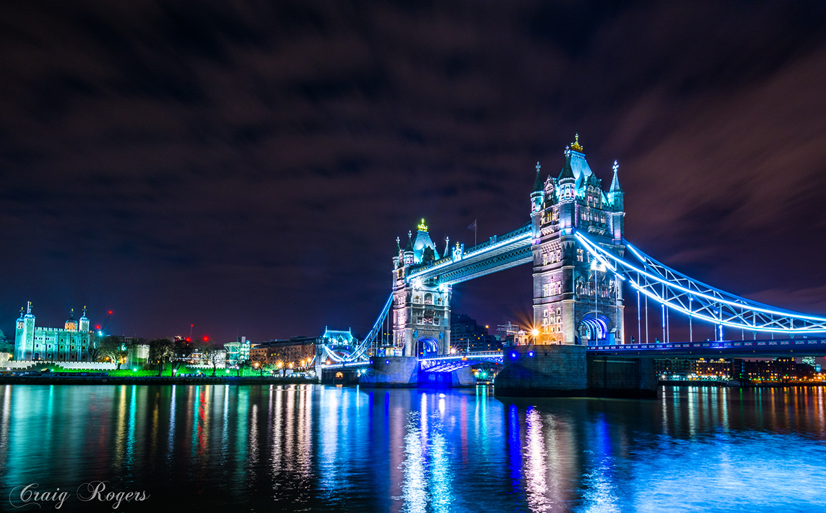 Tower Bridge - D7100, AF-S 10-24mm f/3.5-4.5 @ 13mm, f/11, ISO100, 1/20sec