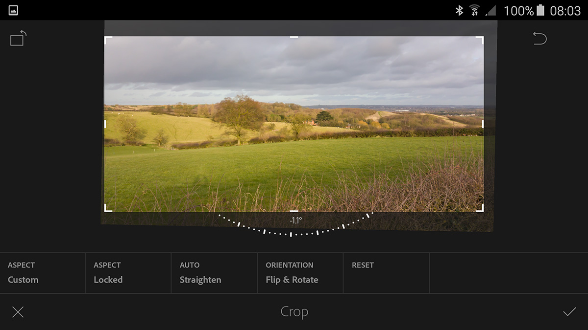Crop Tool with Auto Straight